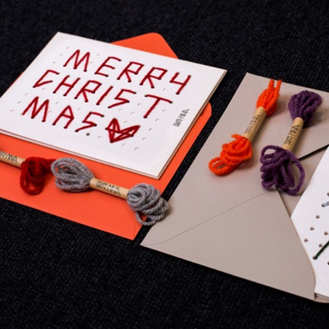 Hand-stitched cards are leading the trend in Korea this Christmas