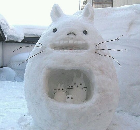 A selection of the finest (amateur) snow sculptures from Japan and China【Photos】