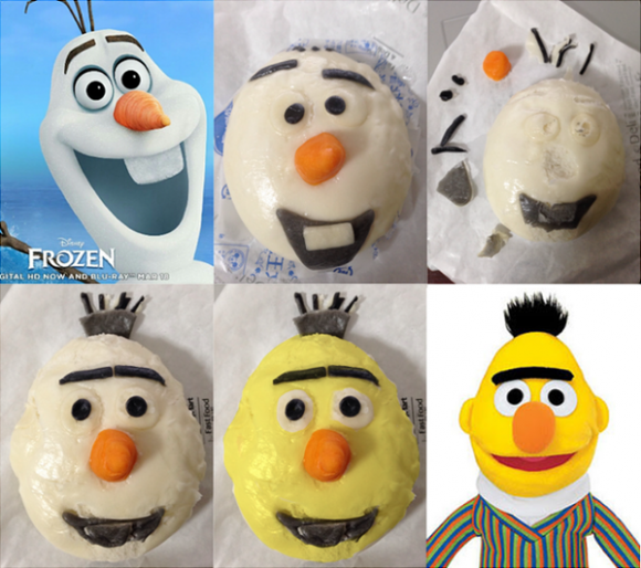 Love sweets, hate Frozen? Solution: repurpose your Olaf bun into Bert from Sesame Street!