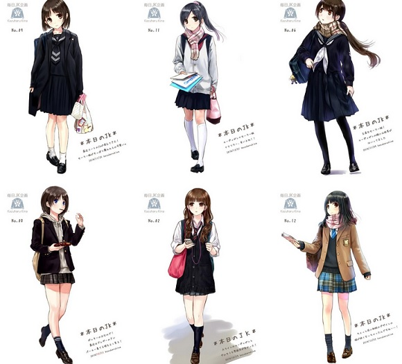 Freelance illustrator wows Twitter users with daily pictures of high school girls