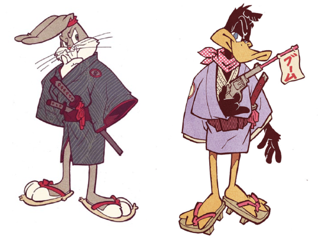 Looney Samurai Tunes! Fan artist reimagines the classic cartoon characters in feudal Japan