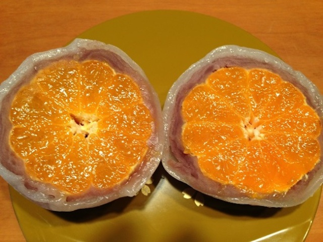Have a rice cake! Have a tangerine! Why not have both with the visually stunning mikan daifuku?