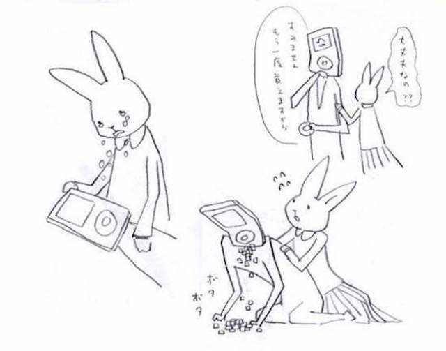 Tear-jerking illustrations of a Twitter user's deteriorating iPod go viral in Japan