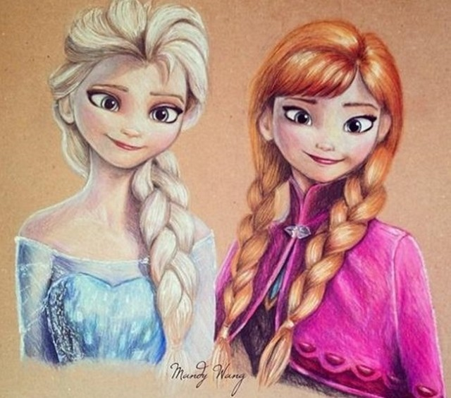 17-year-old aspiring artist creates amazing Disney and Marvel fan art with colored pencils
