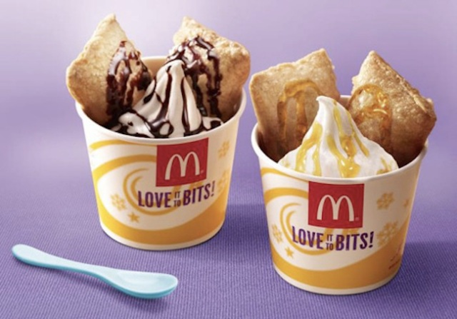 Hot and cold and sweet! McDonald's Japan's Pie a la Mode is back for the winter!