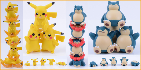 Gotta stack 'em all! Collect and play with these adorable stackable pokémon