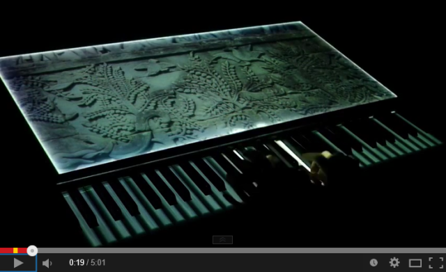 Musician performs beautiful projection-mapped piano themes of Laputa, Frozen, Final Fantasy