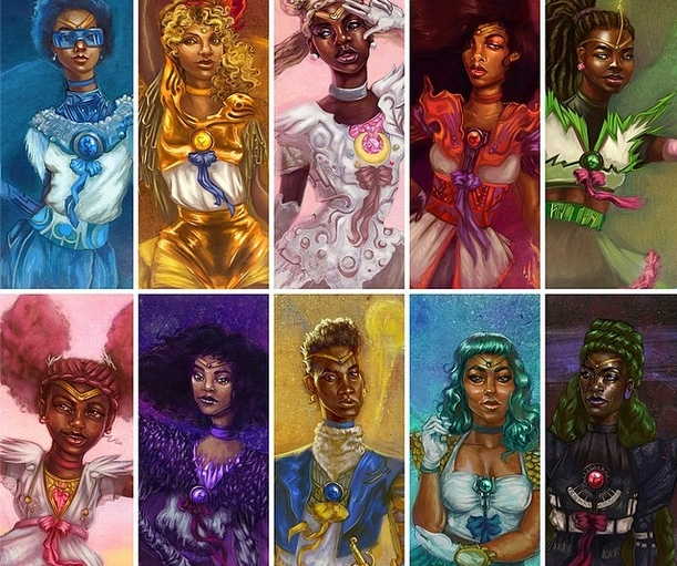 Artist magically transforms Sailor Moon characters into black women