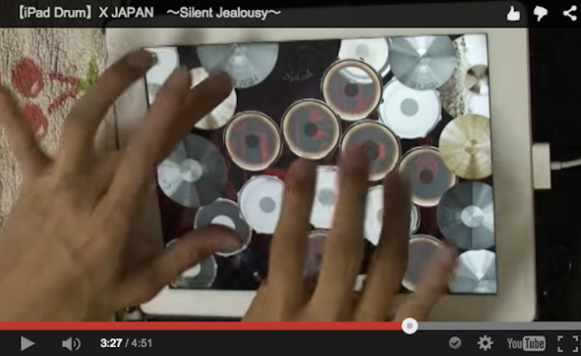 Japanese iPad drummer recreates rock beats with lightning-fast fingers【Video】