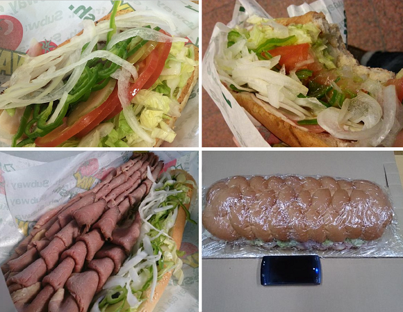 This month's slightly bizarre Japanese Twitter trend is showing off overly full Subway sandwiches