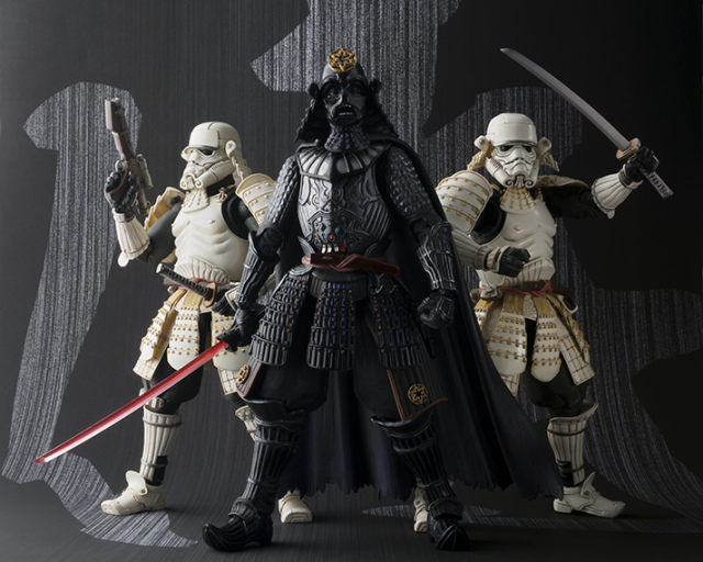 Samurai Darth Vader figure and his light-katana tempt us to the dark/awesome side of the force