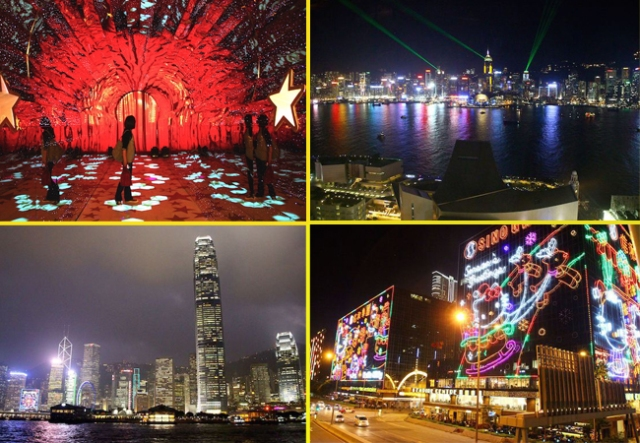 We visit Hong Kong's luminous landscape during the holiday season for an added holiday twinkle