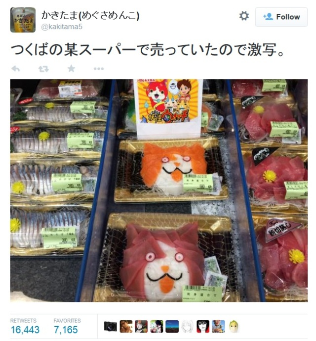 Enjoy a platter of Youkai Sashimi while we explain that cat's name