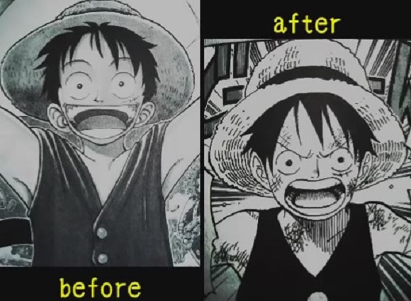 Track the stylistic evolution of Eiichiro Oda's most famous One Piece characters