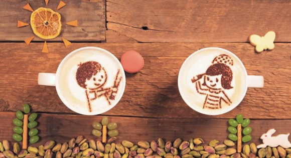 Latte art comes to life in this amazing stop-motion video