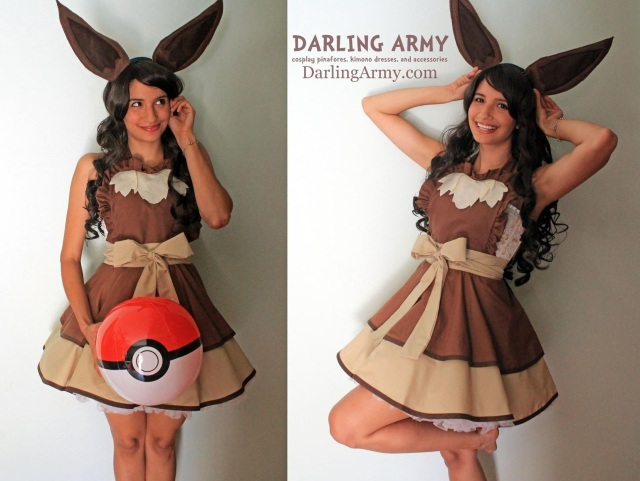 Disney, Pokemon, Ghibli and more awesome handmade cosplay aprons and dresses for geeky girls!