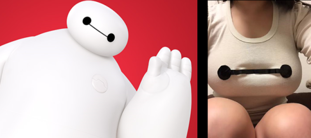 Big (Bust) Hero 6 – Cosplayer recreates Disney's Baymax using only her chest