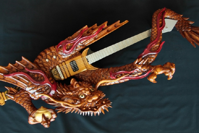 Traditional wood-carved guitars prove Japan is the most metal