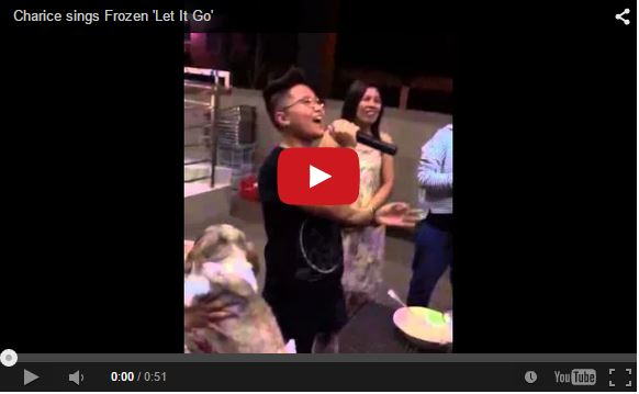 Filipina singing sensation Charice is back with a short clip of 'Let it Go,' karaoke style!