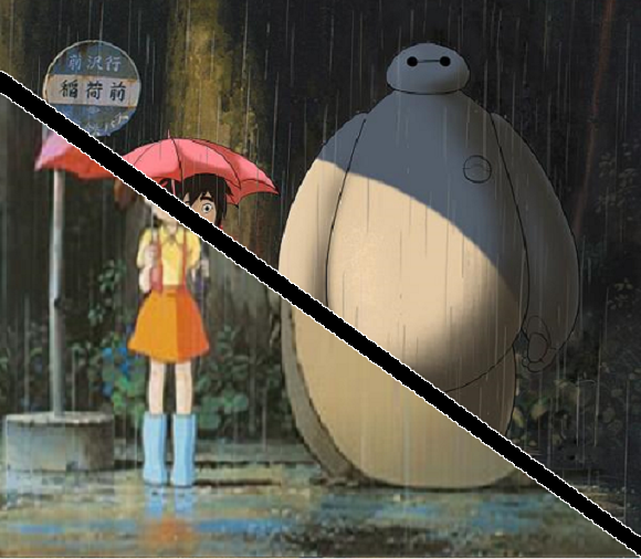 My Neighbor Baymax: Big Hero 6 character designer's homage to Ghibli blows up Twitter