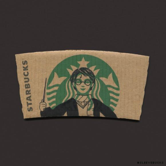 Espresso Patronum! Artist creates awesome artwork on Starbucks' cardboard cup sleeves