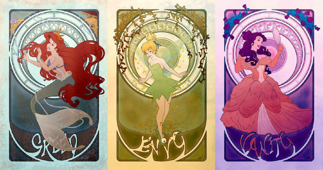 Bad Disney girls: Fan artist reimagines princesses as the seven deadly sins