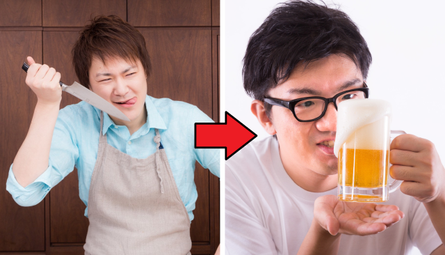Japanese man invites neighbor in for a few beers immediately after being shanked by him