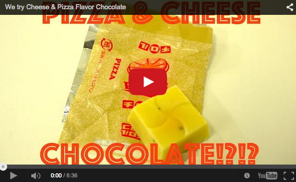 Cheese & Pizza chocolate!? We force-feed our coworkers the weirdest Japanese snack ever