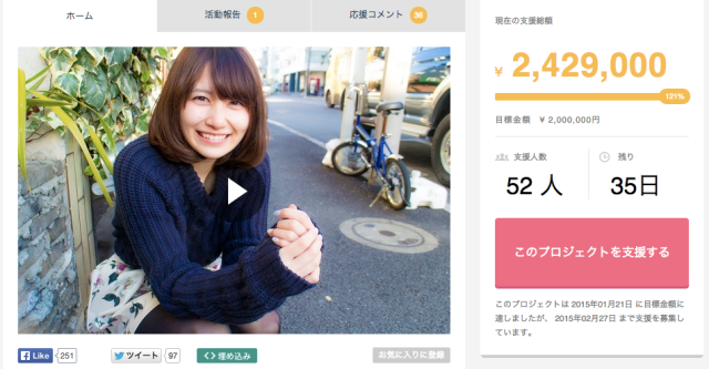 Former AKB48 idol's crowdfunding campaign includes date rewards