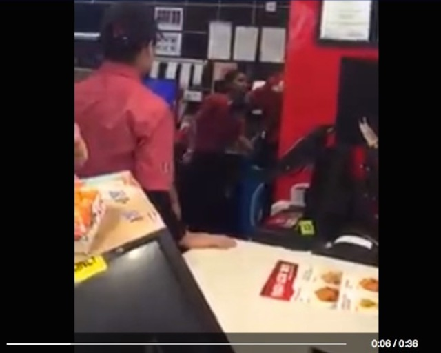 Fly-kicking good?! KFC Malaysia apologises after employees brawl in front of customers