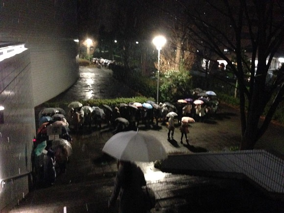 Snow?! Uta no Prince-sama fans don't care about no snow! (Or sleeping, apparently)