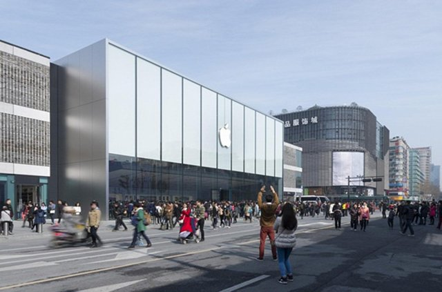 Look inside Apple's massive new store in China