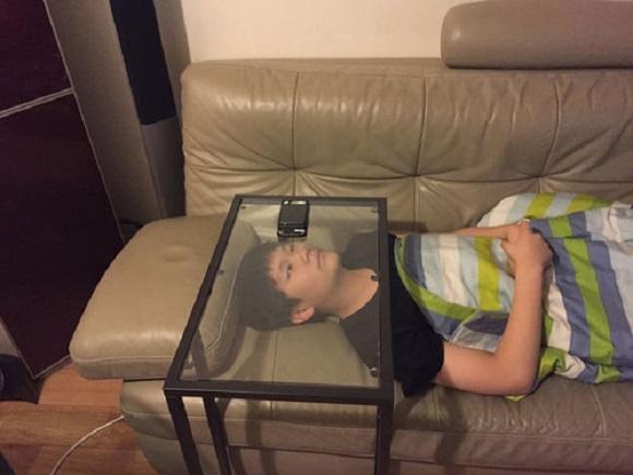 "Kid invents ""genius"" DIY hands-free smartphone hack using IKEA table"