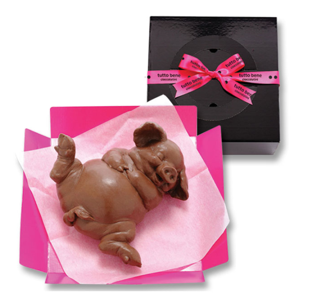 Pig-shaped chocolates: The perfect candy to pig out on this Valentine's Day