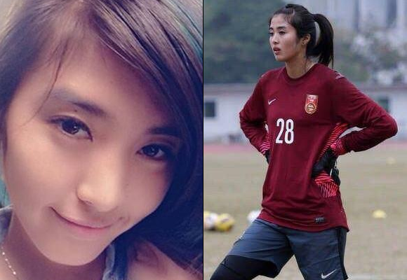 Beautiful Chinese soccer goalie is a keeper in Japanese men's eyes