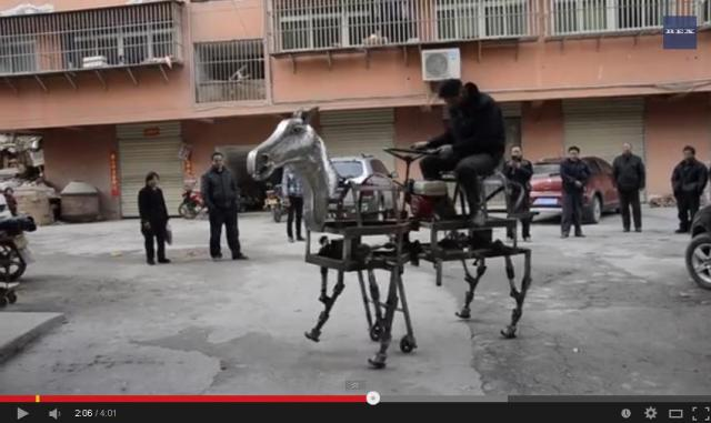 Real horses too much hard work for you? Why not get yourself a robo-horse! 【Video】