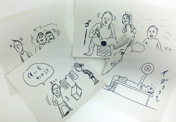The most annoying people you'll meet at a Japanese fitness gym, illustrated (badly) 【Pics】