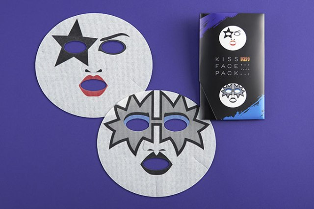 Channel your inner rock god while smoothing your skin with the official KISS face pack