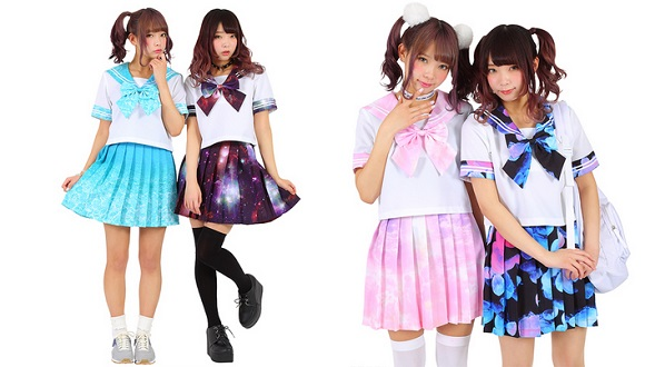 The cutest sailor uniforms we've ever seen come in jellyfish and galaxy prints!