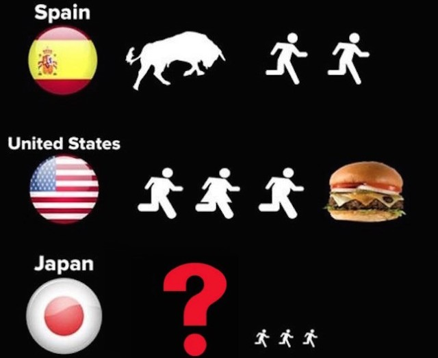 """""""Is this because of Fukushima?"""" Japanese people react to 'Why people run' meme"""