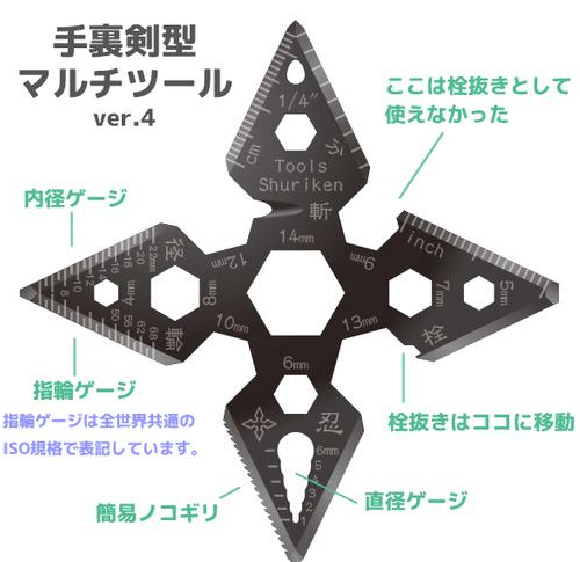 Awesome 23-function throwing star-shaped multi-tool will turn you into a ninja handyman