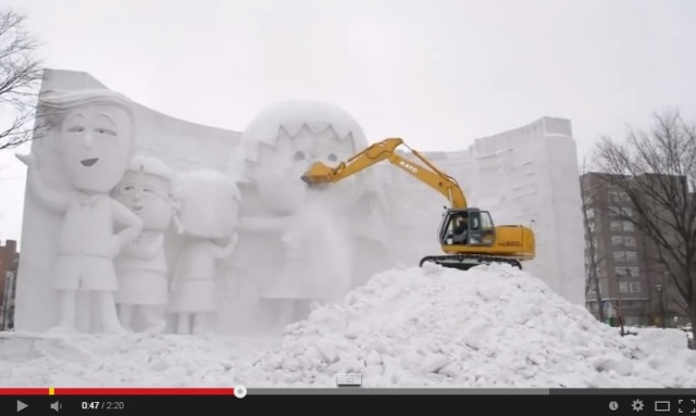 As the Sapporo Snow Festival ends, the Sapporo Demolition Festival begins!