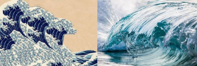 High-speed photos of waves remind us of certain famous Japanese wood-block print