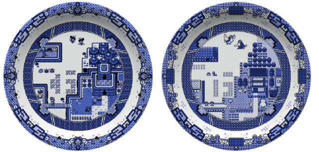 Gorgeous Zelda and Pokémon ceramic plates will add a touch of class to any gamer's dining room