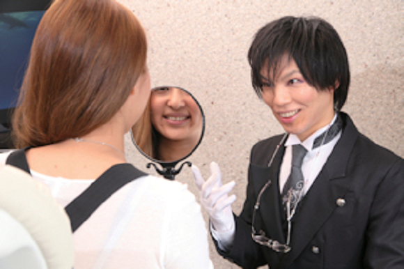 Tokyo's butler dentist will let you lay your head on his lap as he brushes your teeth, m'lady