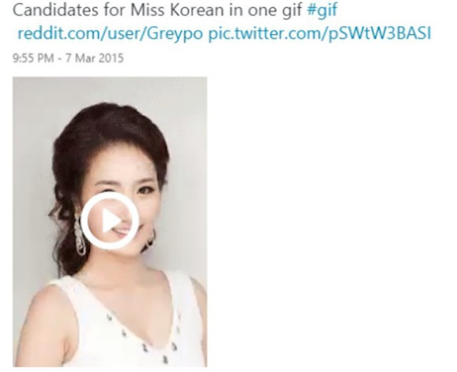 Spot the difference: This gif of Miss Korea candidates is pretty much what we were expecting