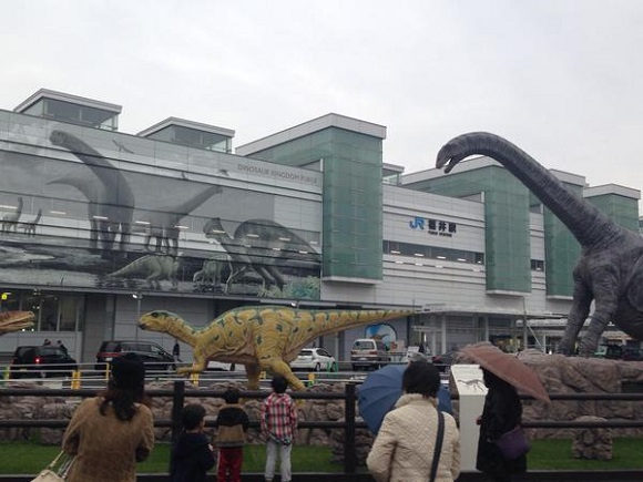 Fukui Station, the upcoming Shinkansen station, is also home to roaring dinosaurs!