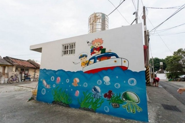 Village in Taiwan has dozens of anime and children's characters painted on its houses!【Photos】