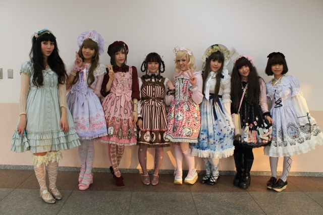 Frills and poofy dresses galore at an international lolita fashion tea party in Tokyo