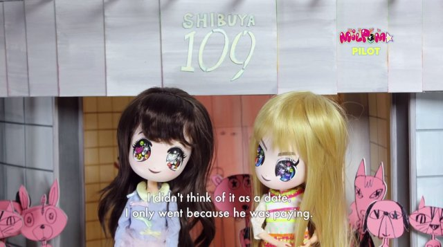 """Creepy-Cute"" doll animation ""MILPOM★"" portrays the realistic Tokyo girls' life"
